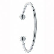 Sterling silver Ladies plain 3mm thick torque Bangle 12.5g